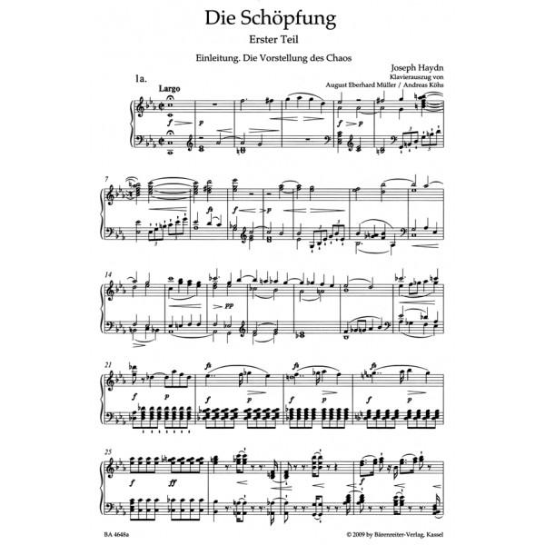 Haydn F.J. - Creation, The. Oratorio (Hob.XXI:2) (G-E) (Urtext).