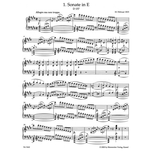 Schubert F. - Piano Sonatas Bk.1: Early Sonatas (D 157, 274, 459, 537, 557, 566,