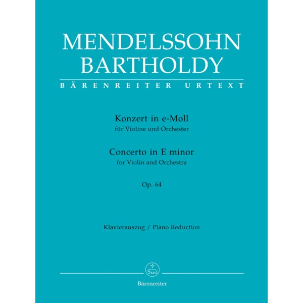 Mendelssohn-Bartholdy F. - Concerto for Violin in E minor Op.64 (Urtext). (Early version and