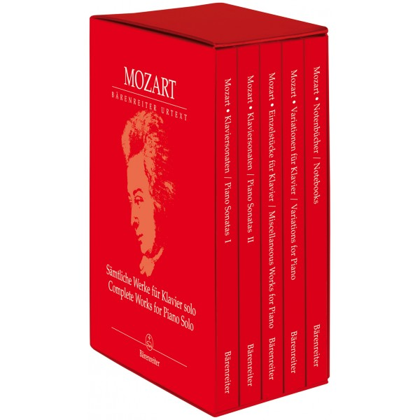 Mozart W.A. - Complete Works for Piano Solo (Urtext).  Five volumes in slipcase.