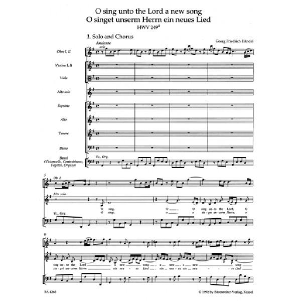 Handel G.F. - O sing unto the Lord (HWV 249a) (E-G) (Urtext).