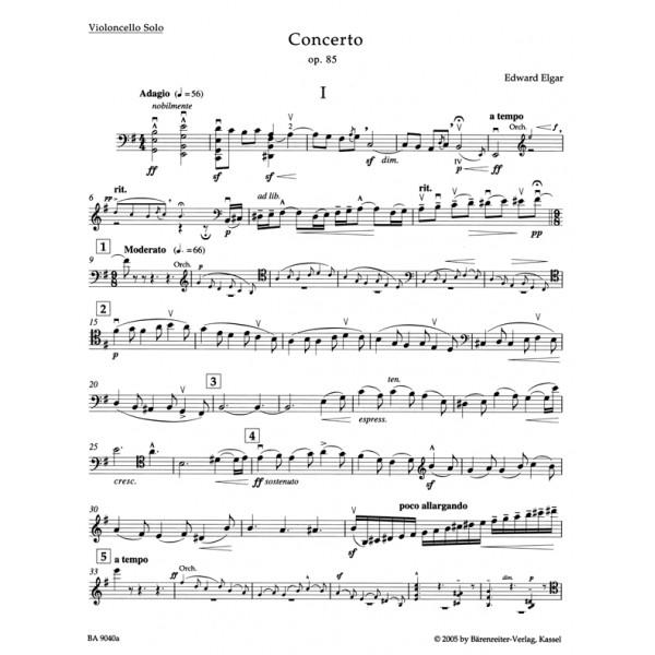 Elgar E. - Concerto for Violoncello in E minor, Op.85 (Urtext).