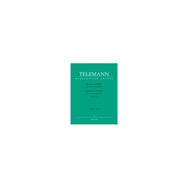 Telemann G.P. - Concerto for Violin in G (TWV 51: G7) (Urtext).
