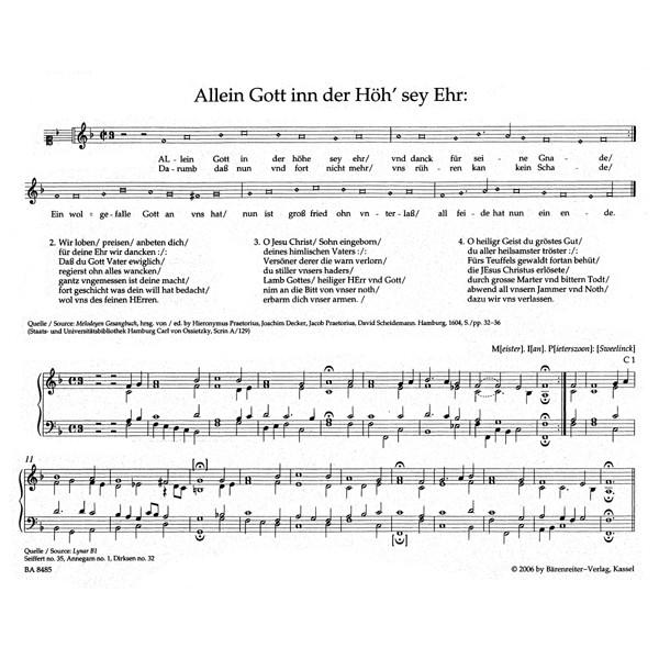 Sweelinck J.P. - Organ and Keyboard Works Complete, Vol.3/1 (New Edition) (Urtext)