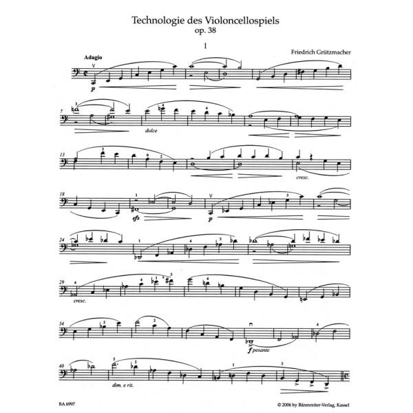 Gruetzmacher F. - Technology of Violoncello Playing, Op.38.  Twenty-four Etudes for