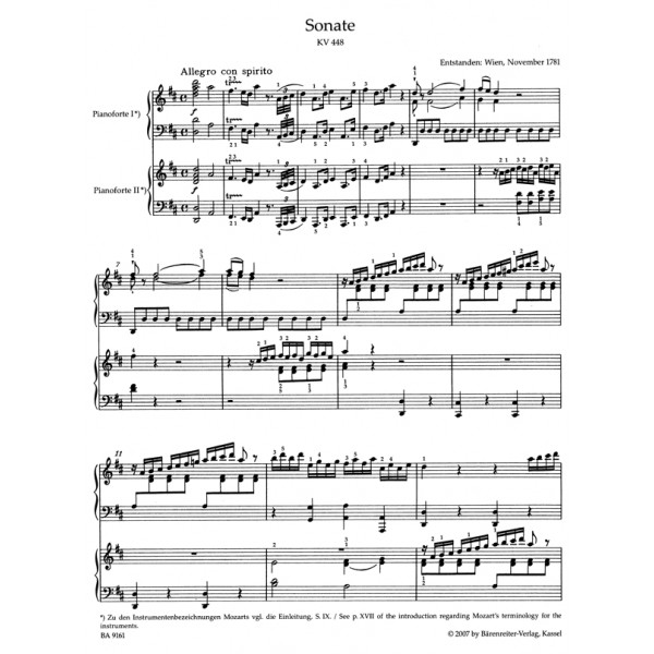Mozart W.A. - Complete Works for two Pianos (Urtext).