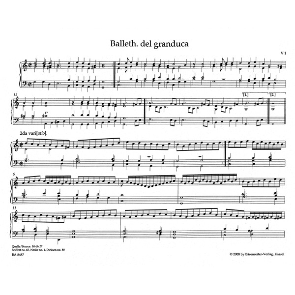 Sweelinck J.P. - Organ and Keyboard Works Complete, Vol.4/1 (New Edition) (Urtext)