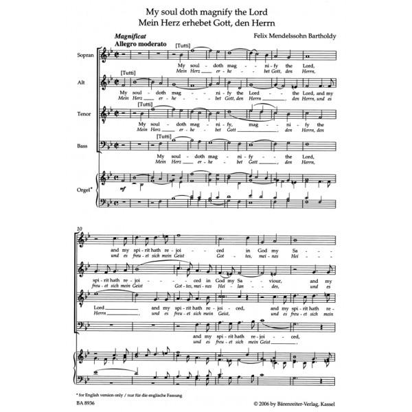 Mendelssohn-Bartholdy F. - Motets (3) Op.69 (G-E) Urtext). (O be joyful to the Lord / My soul