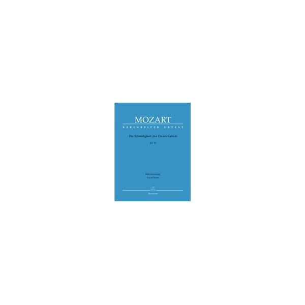 Mozart W.A. - Die Schuldigkeit des Ersten Gebots K.35 (Singspiel) (G) (Urtext).