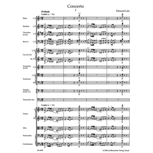 Lalo E. - Concerto for Violoncello in D minor (Urtext).