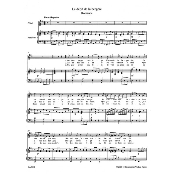 Berlioz H. - Songs for High Voice and Piano, Vol. 1 (Urtext).