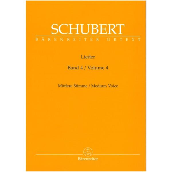 Schubert, Franz - Lieder, Vol. 4 (New Edition) (Op.105-108) (Urtext).