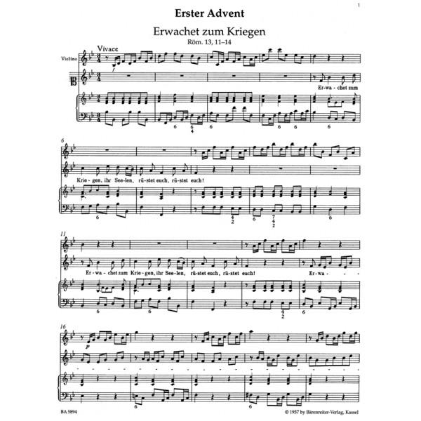 Telemann G.P. - Harmonische Gottesdienst, Der.  Advent and Christmas.