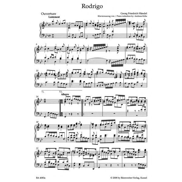 Handel G.F. - Rodrigo (Vincer se stesso e la maggior vittoria) (HWV 5) (It)