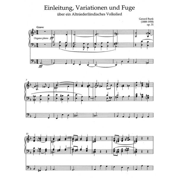 Bunk G. - Organ Works Vol.3, Op.31 - Op.40 (Urtext).