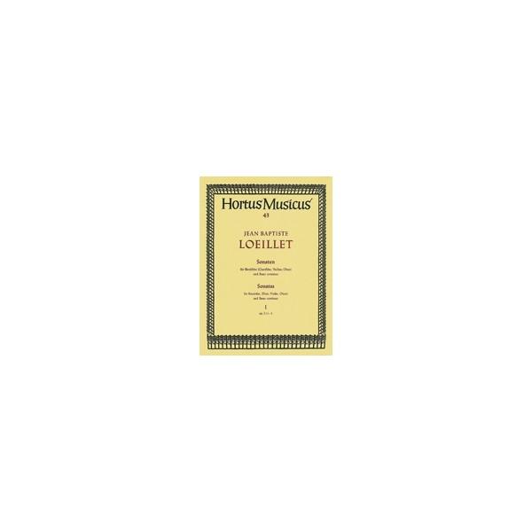 Loeillet J.(.G. - Sonatas (3), Vol. 1: Op.1 (No.1 A min: No.2 D min: No.3 G maj).