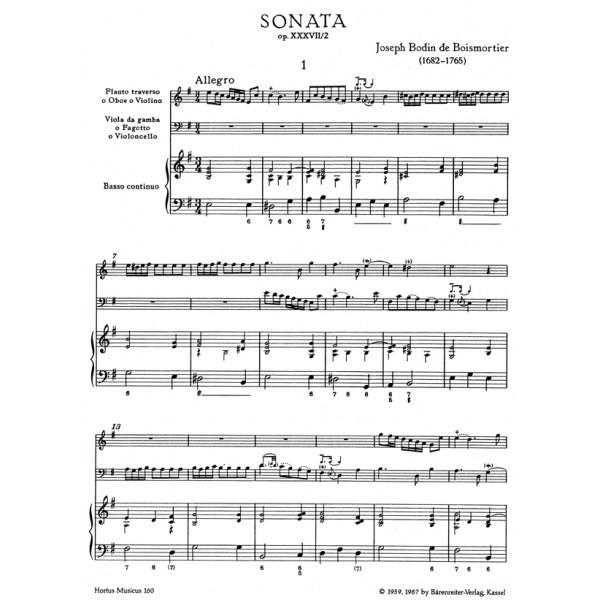 Boismortier J.B. de - Sonata in E minor, Op.37/2.