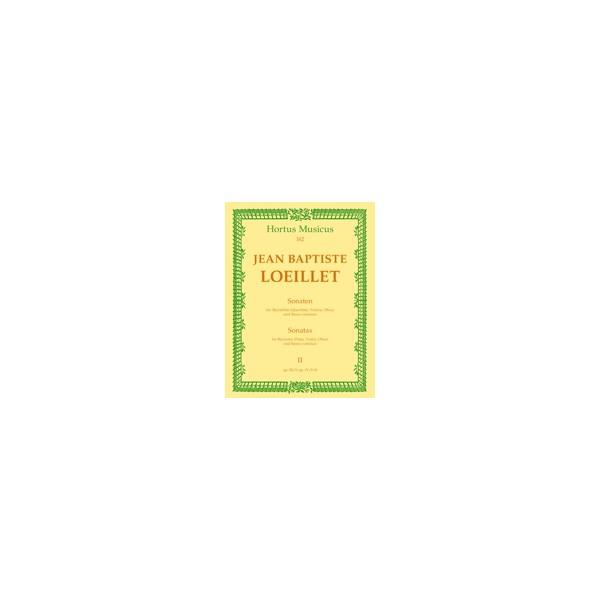 Loeillet J.(.G. - Sonatas (3), Vol. 2: (Op.3/9 Bb maj: Op.4/9 G maj:Op.4/10 C maj).