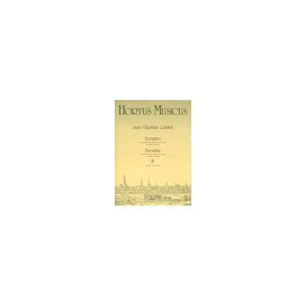 Loeillet J.(.G. - Sonatas (3), Vol. 3:(Op.3/12 E min: Op.4/11 C min: Op.4/12 A min).