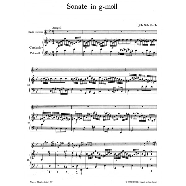 Bach J.S. - Sonata in G minor (BWV 1020).