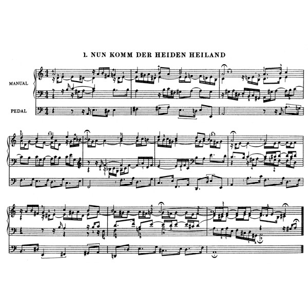 Bach J.S. - Orgelbuechlein (49 Organ Chorales with various Chorale Movements by