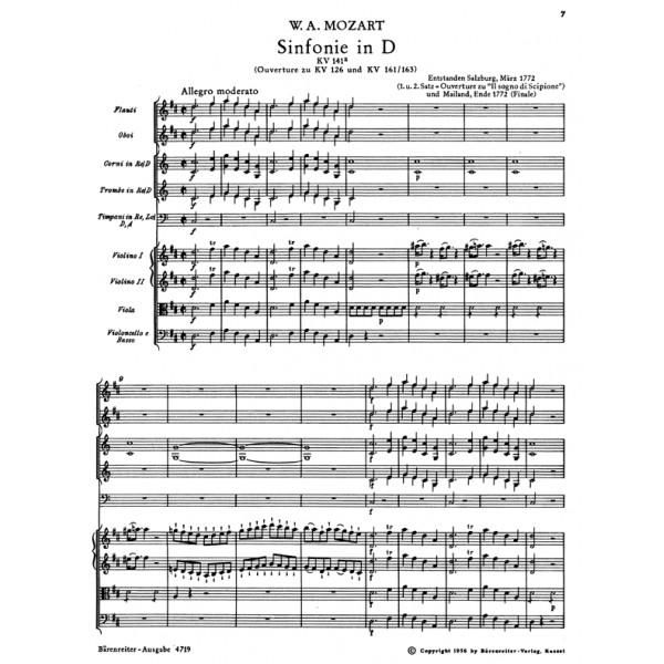 Mozart W.A. - Symphony in D (K.141a) (Urtext).