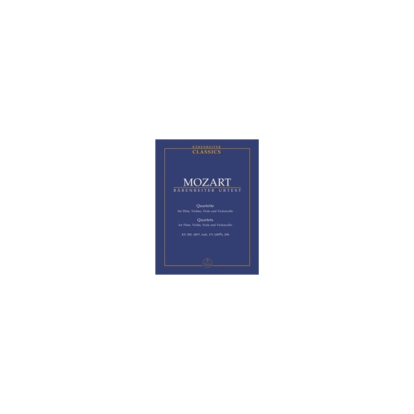 Mozart W.A. - Flute Quartets (4) (K.285, 285a, 285b, 298) (Urtext).