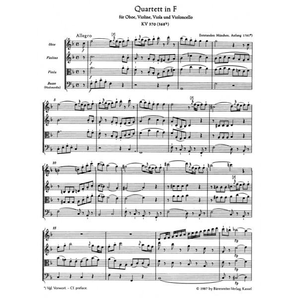 Mozart W.A. - Oboe Quartet in F (K.370) (Urtext).