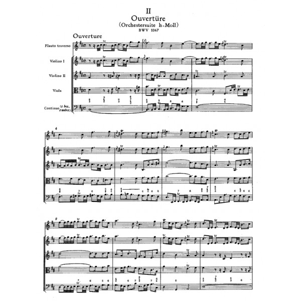 Bach J.S. - Suite (Overture) No.2 in B minor (BWV 1067) (Urtext).
