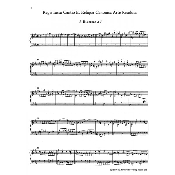Bach J.S. - Canons (10) from the Musical Offering (BWV 1079) (Urtext).