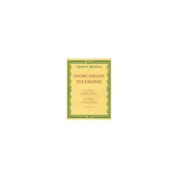 Telemann G.P. - Sonatas (4), (F maj TWV 41:F2: Bb maj TWV 41:B3: F min TWV 41:f1: