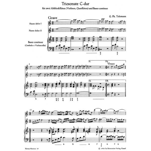 Telemann G.P. - Trio Sonata in C (from Der getreue Musikmeister).