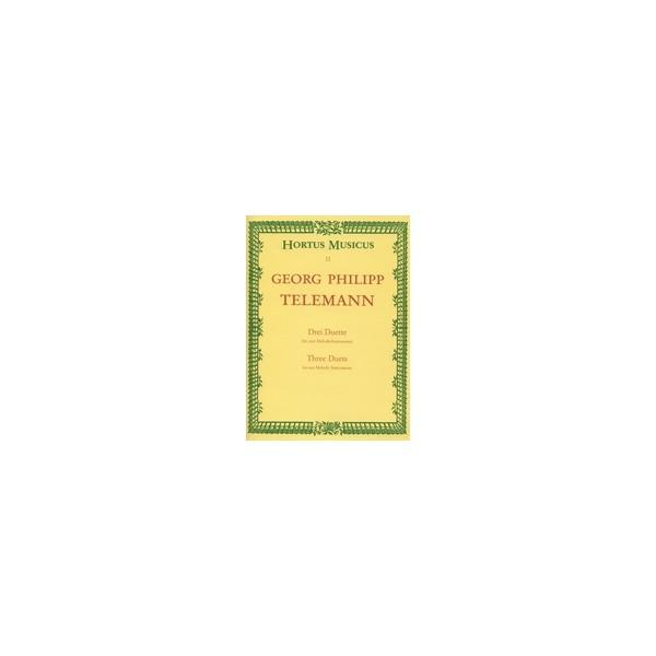 Telemann G.P. - Duets (3) (Bb maj TWV 40:118: D maj Gulliver Suite TWV 40:108:
