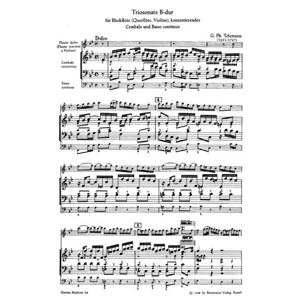 Telemann G.P. - Trio Sonata in B-flat.