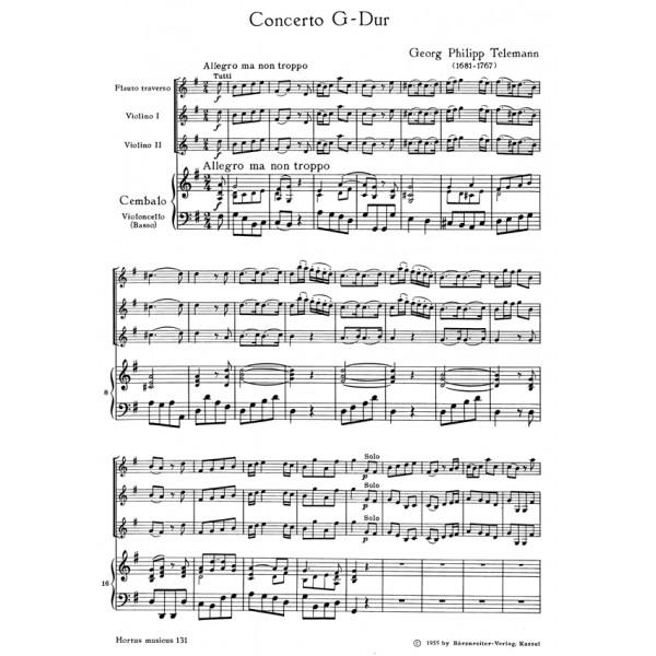 Telemann G.P. - Concerto for Flute in G.