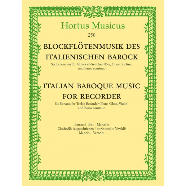 Various Composers - Italian Baroque Music for Treble Recorder