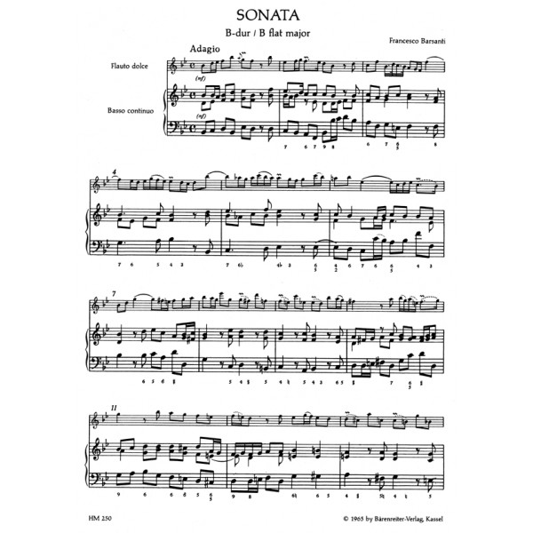 Various Composers - Italian Baroque Music for Treble Recorder.