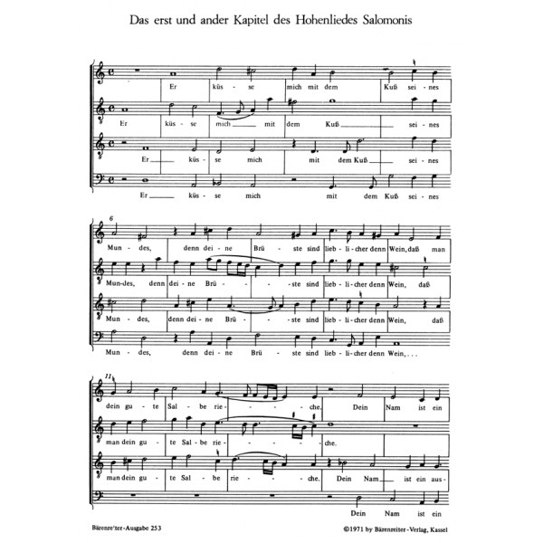 Lechner L. - Hohelied Salomonis, Das (Urtext).