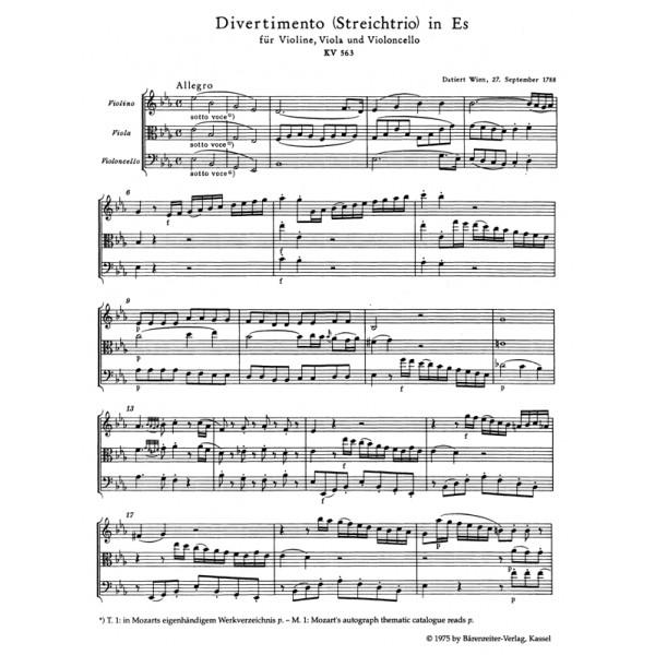 Mozart W.A. - Divertimento in E-flat (K.563) (Urtext).