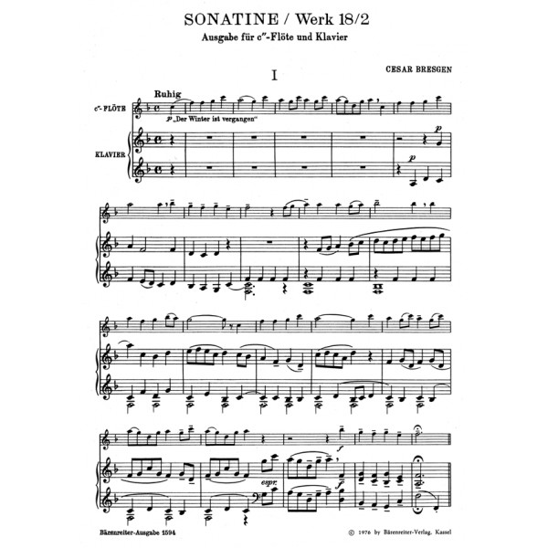 Bresgen C. - Sonatina in F, Op.18/ 2.