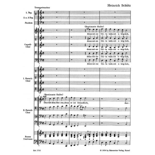 Schuetz H. - Danket dem Herren (SWV 45) Psalm No.136.