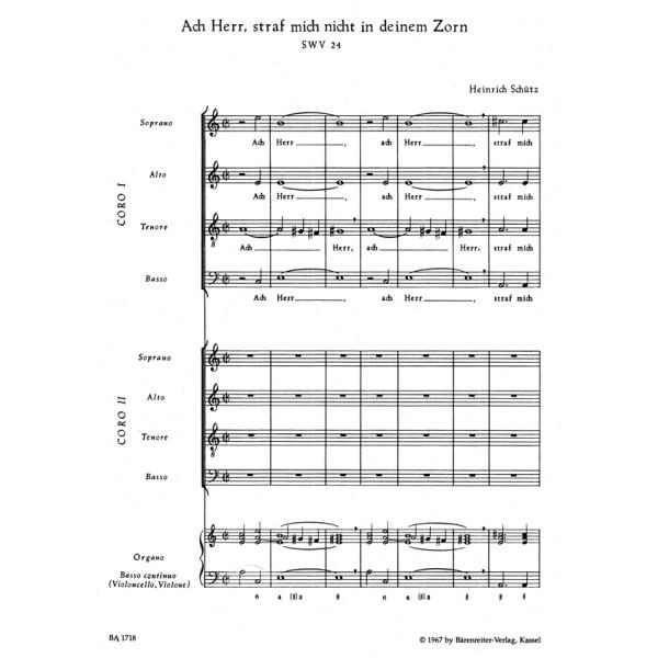 Schuetz H. - Ach Herr, strafe mich nicht (SWV 24) Psalm No.6 (G).