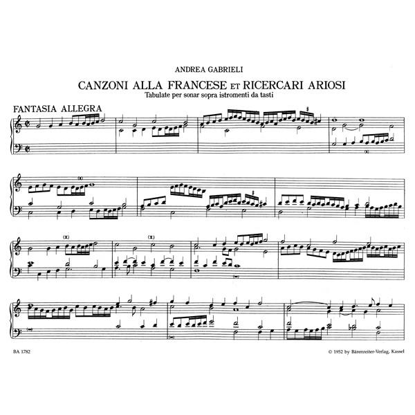 Gabrieli A. - Organ and Piano Works, Vol. 4: Canzonas & Ricercari ariosi.