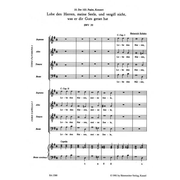 Schuetz H. - Psalm 103: Lobe den Herren, meine Seele (SWV 39).
