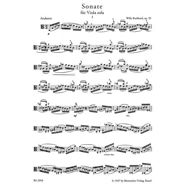 Burkhard W. - Sonata, Op.59.