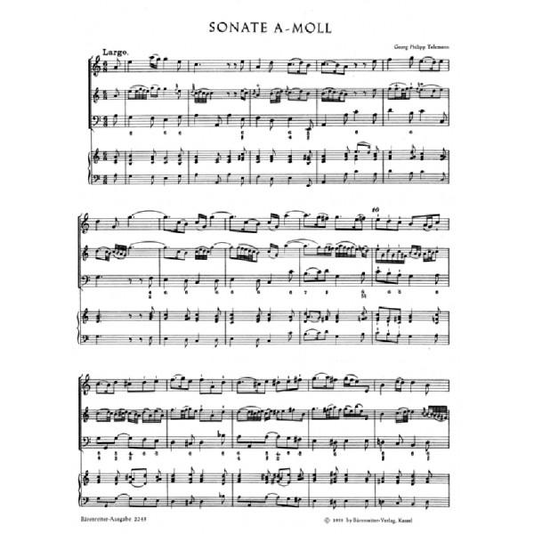 Telemann G.P. - Methodical Sonatas, Vol. 3: A minor, G (Urtext).