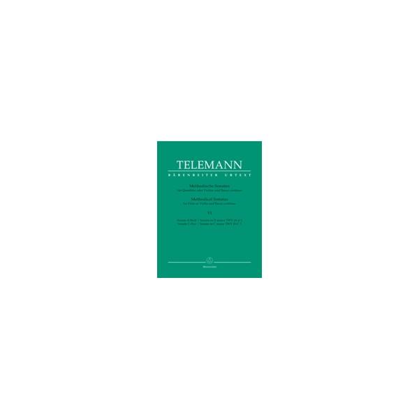 Telemann G.P. - Methodical Sonatas, Vol. 6: D minor, C (Urtext).