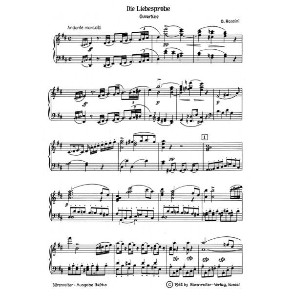 Rossini G. - Die Liebesprobe (La Pietra del Paragone) (G) (Urtext).