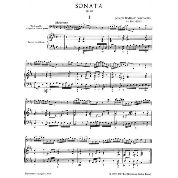 Boismortier J.B. de - Sonata in D, Op.50/3.