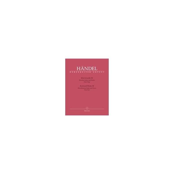 Handel G.F. - Piano Works, Vol. 3: Single Suites & Pieces, Part 1 (Urtext).